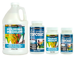 Decoart Pouring Mediums and Top Coats
