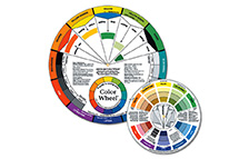 Easy to use and understand, basic tools for teachers, students, artists and anyone making color selections. It includes gray scale, tints, tones, shades and results of mixing colors.