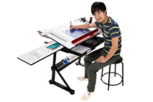 Huge selection of discount artist studio furniture. Our selection includes art trays and racks, flat files, artist drawing tables, mirror stands, print racks and more.