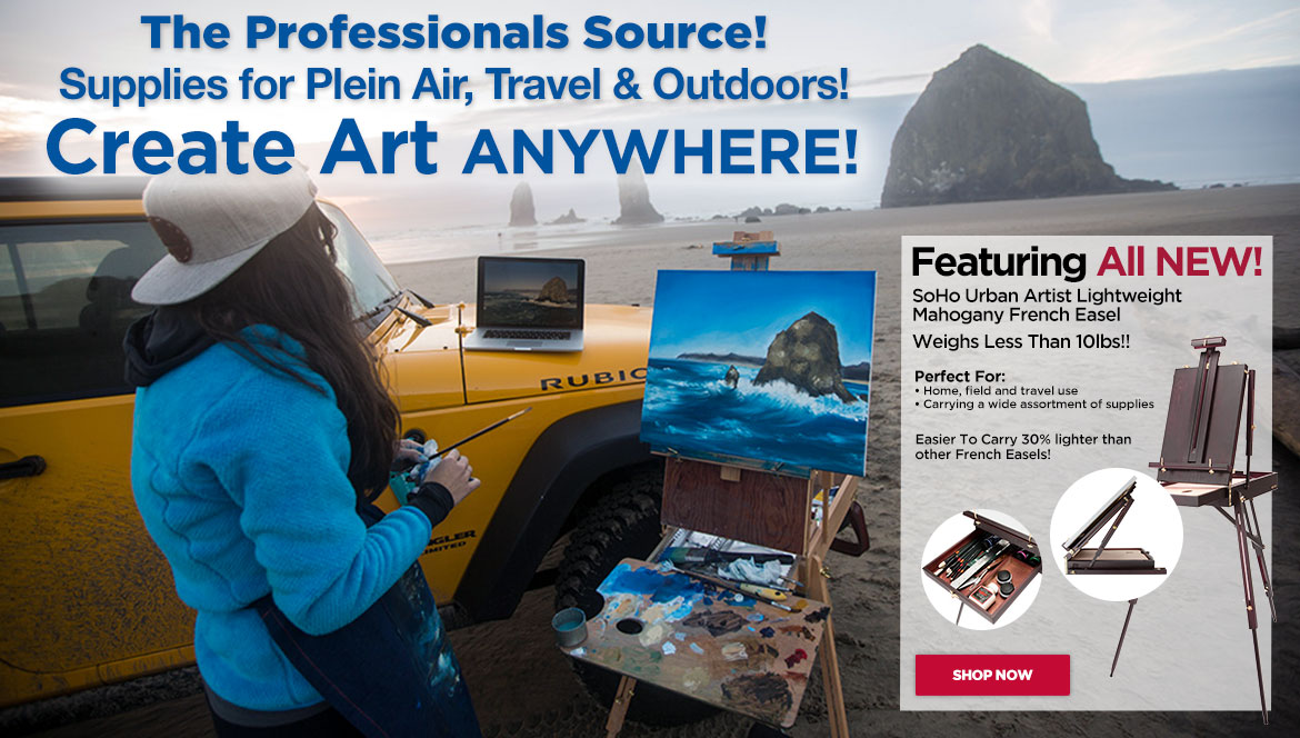 Great for travel, outdoors & creating art anywhere!