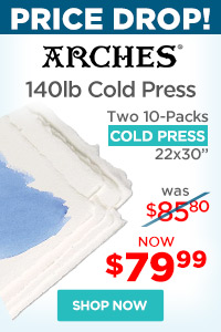 Arches Cold Press Watercolor Paper Two 10-Pack Special