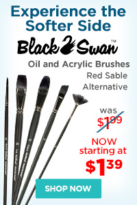 Black Swan Synthetic Red Sable Brushes