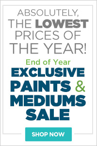 End of Year Jerry's Exclusive Paints & Mediums Sale