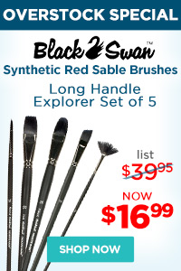 Black Swan Synthetic Red Sable Brush Sets