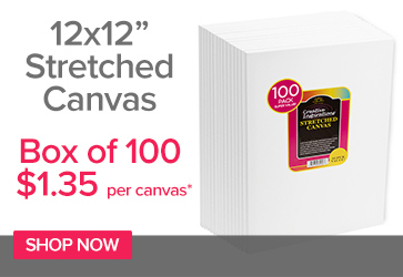12x12in Super Value Canvas $1.48 each
