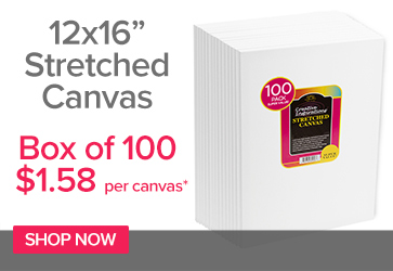 12x16in Super Value Canvas $1.68 each