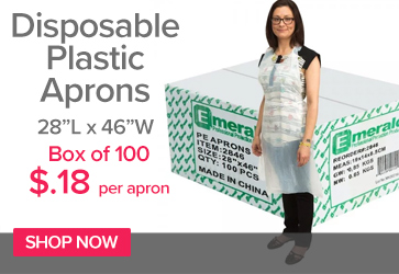 Disposable Plastic Aprons Box of 100
