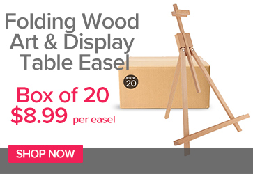 Folding Wood Art & Display Table Easel Bulk Box of 20 - ($8.99 each)