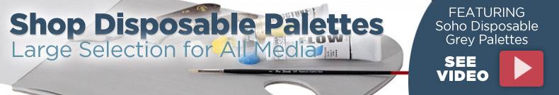 disposable palettes - grey toned palettes