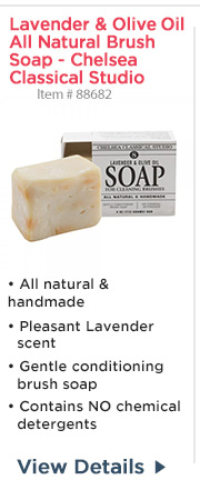 Lavender & Olive Oil All Natural Brush Soap - Chelsea Classical Studio