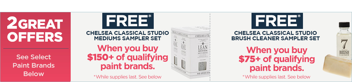 2 Great Offers with purchase of select professional paint brands