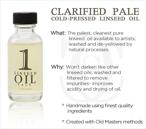 Clarified Pale Cold-Pressed Linseed Oil