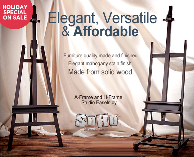 Soho A-Frame and H-Frame Studio Easels - Jerry's Artarama