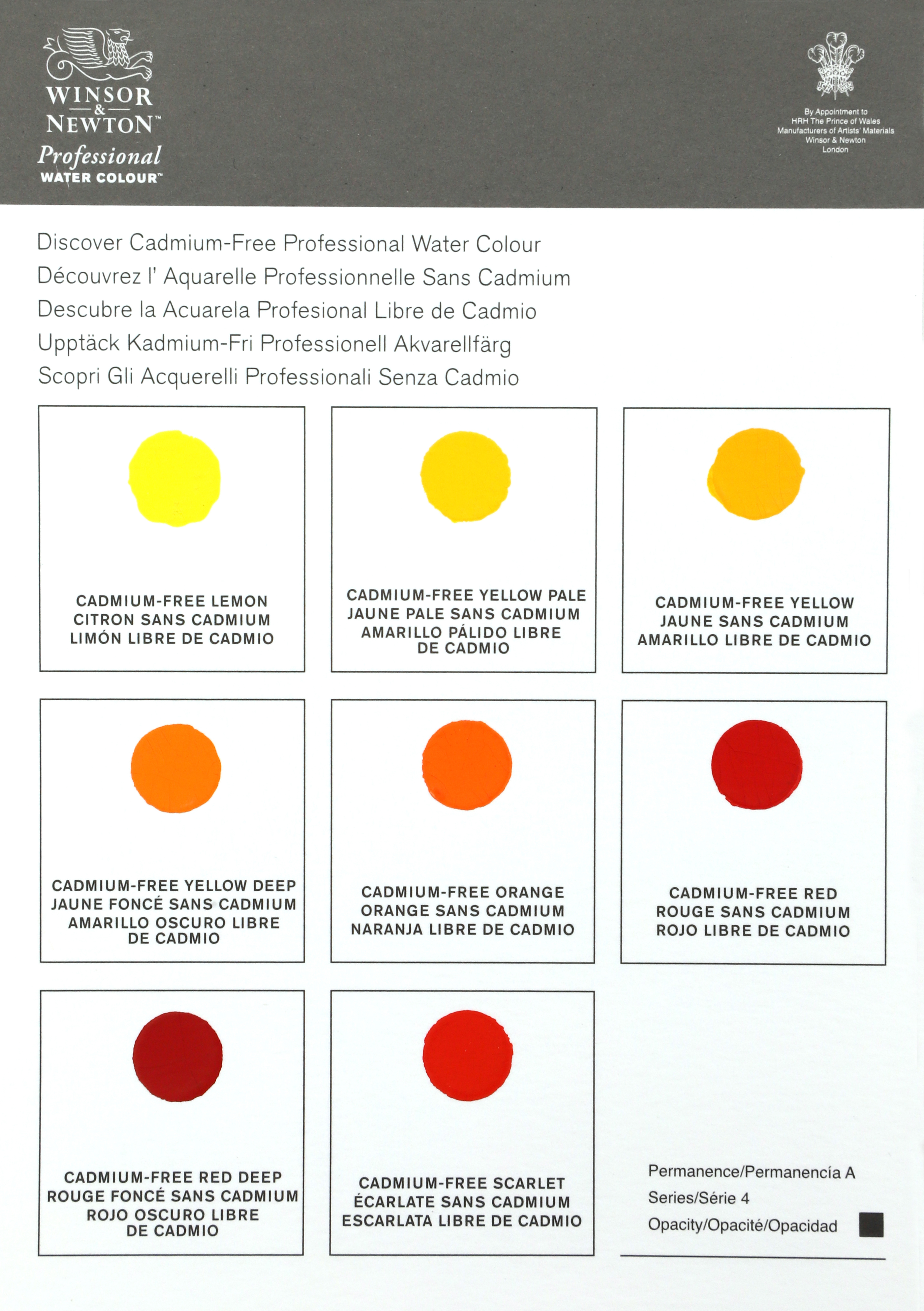 FREE* Winsor & Newton Cadmium-Free Professional Watercolor Dot Card