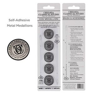 FREE Chelsea Classical Studio 5 pack of Special Alloy Metal Medallions