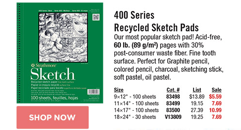 400 Series Recycled Sketch Pads