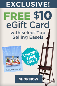 Top Easels with gift card