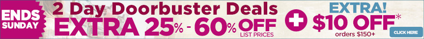 Great Doorbuster Deals - Up to 60% Off plus Free Shipping orders $79