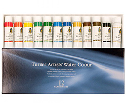 Concentrated Artists' Professional Watercolor Set of 12 15 M