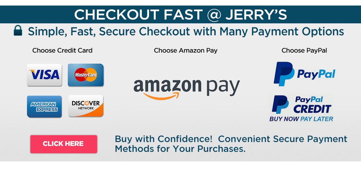 Secure Payment Options at Jerry's